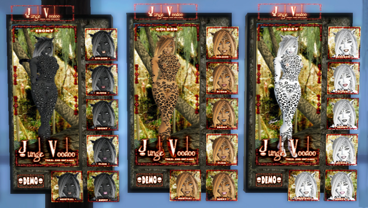 "Jungle Voodoo's Leopard skins, ""Neko style"" (click any of these photos to"