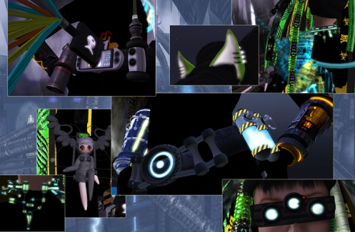 Cyberpunk Second Life fashion accessories