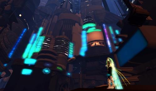 Second Life Cyberpunk Hangars Liquides sim