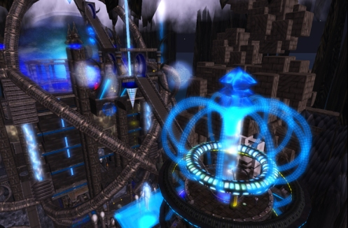 Second Life Cyberpunk sim Omega Point