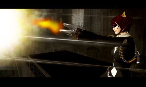 James Bond gun Neko Secondlife Vesper Lynd