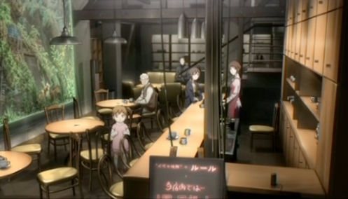 Time Of Eve Coffeehouse Cafe In The Anime Ivu No Jikan