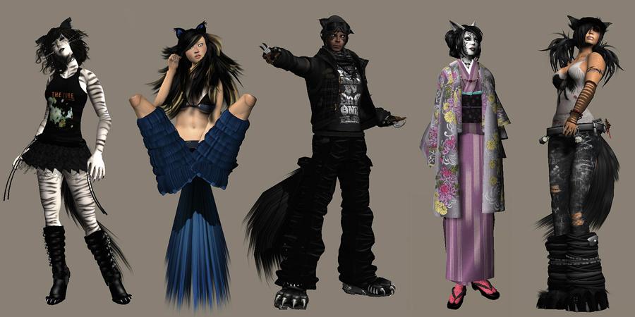 Neko Halloween Costume | Cat Girl Virtual Neko In Second Life
